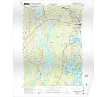 Maine USGS Historical Map Waldoboro West 461009 1965 24000 Poster