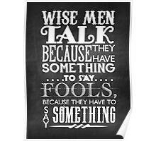 Wise Men Chalkboard Poster
