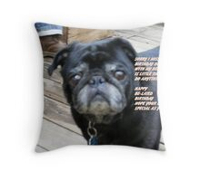 """Doc says, """"Have a Happy Belated Birthday!"""" Throw Pillow"""