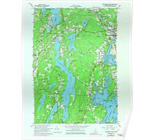 Maine USGS Historical Map Waldoboro West 807268 1965 24000 Poster
