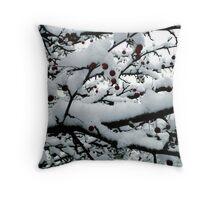 Snowy Little Apples Throw Pillow