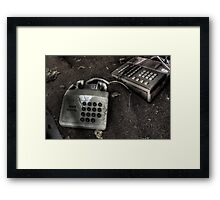 The line has gone dead Framed Print