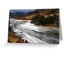 Colorado's Icy Arkansas River Greeting Card