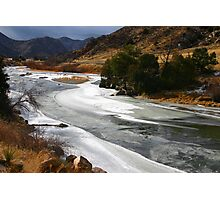 Colorado's Icy Arkansas River Photographic Print
