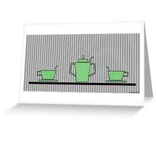 Tea set Greeting Card