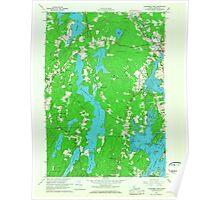 Maine USGS Historical Map Waldoboro West 807270 1965 24000 Poster