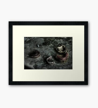 False Teeth Framed Print