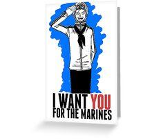 One Piece - Marine Recruitment! Greeting Card