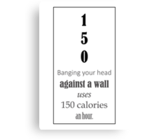 Funny fact _ 2 Canvas Print