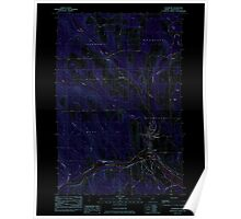 Maine USGS Historical Map Washburn 103076 1984 24000 Inversion Poster