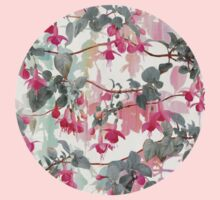 Rainbow Fuchsia Floral Pattern - with grey Kids Clothes