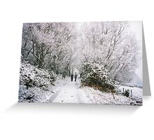 Snowy Walk 2 Greeting Card