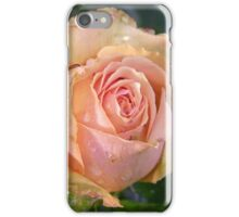 Apricot Rose and Raindrops iPhone Case/Skin