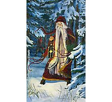 Greetings from Kris Kringle and the Krampus! Photographic Print
