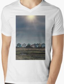 beach huts Mens V-Neck T-Shirt