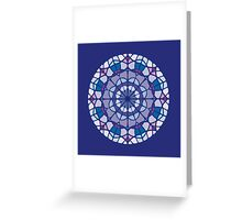 stained glass 1 Greeting Card