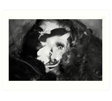 The flaming dall Art Print