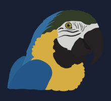 Blue and Gold Macaw Parrot Kids Clothes