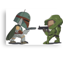 HUNTER VS SOLDIER Canvas Print