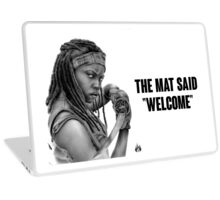 "THE MAT SAID ""WELCOME"" with text Laptop Skin"
