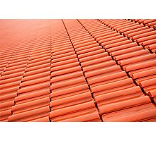red tiles roof rows abstract  Photographic Print