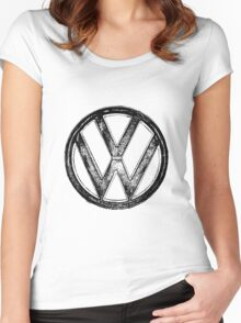 VW Logo Women's Fitted Scoop T-Shirt