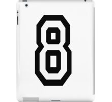 8, EIGHT, TEAM SPORTS, NUMBER 8, eighth, competition iPad Case/Skin