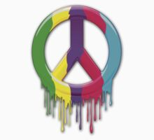 Peace Symbol Dripping Rainbow Paint Kids Clothes