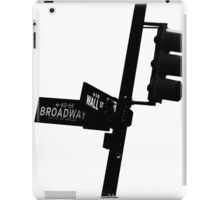 Cnr of Wall st and Broadway (Silhouette) iPad Case/Skin