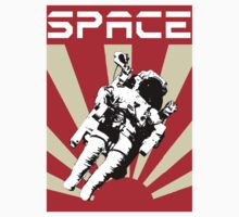 Space Cadet Rising Sun (Red) by thespacecadet