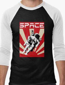 Space Cadet Rising Sun (Red) Men's Baseball ¾ T-Shirt