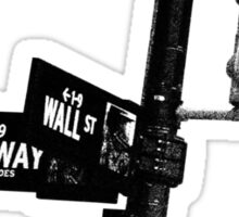 Cnr of Wall st and Broadway (Grain) Sticker