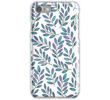 BLUE LEAVES iPhone Case/Skin