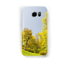 Green spring trees vibrant nature Samsung Galaxy Case/Skin