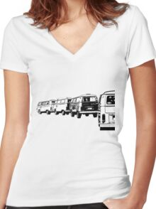 VW Convoy Women's Fitted V-Neck T-Shirt
