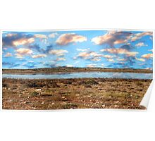 Cloud Formations over Lake Austin Poster