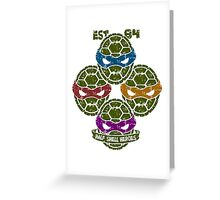 Half Shell Heroes (white) Greeting Card