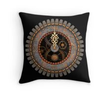 Steampunk Clock Face T-shirts and stickers Throw Pillow