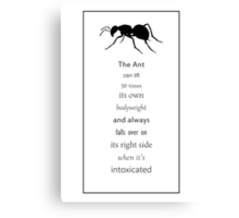 Funny fact _ 7 Canvas Print