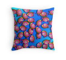 Saturated Egg Man Chaos Duvet Cover Throw Pillow