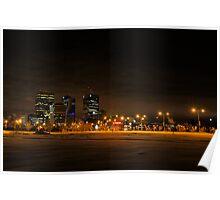 Winnipeg Winter Skyline Poster