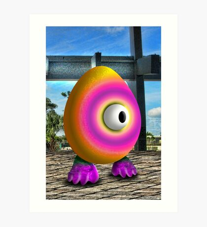 Saturated Egg Man Art Print