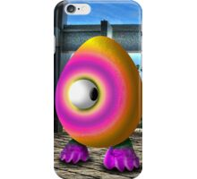 Saturated Egg Man Looking the other Way iPhone Case/Skin
