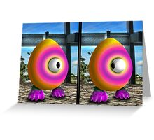 Saturated Egg Man Combined Greeting Card