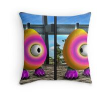 Saturated Egg Man Combined Throw Pillow