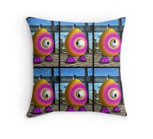 Saturated Egg Man Six Throw Pillow