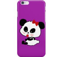 Cute Baby Girl Panda, lilac iPhone Case/Skin