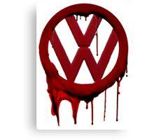 VW Blood drip Canvas Print