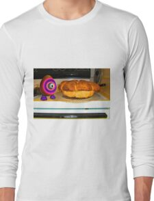 Saturated Egg Man Inspecting the Bread Bake Long Sleeve T-Shirt