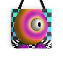 Saturated Egg Man on the Chess Board Tote Bag